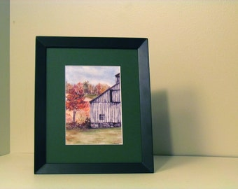 Barn Watercolor Print - Barn Painting - Rustic Home Decor - Country Painting