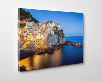Canvas SALE! Italy, Italy photography, Cinque Terre, Cinque Terre photography, Manarola, sea, fine art, Italy Canvas #010