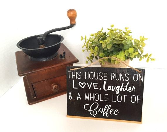 Wall Art Rustic Wooden Sign Coffee Bar Sign Rustic Kitchen Art