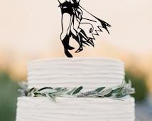 Batman and Wonder Woman cake topper Wedding Cake Topper