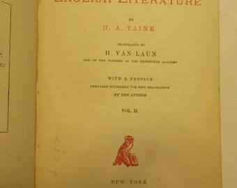 SALE ~1872 History of English Literature  Vol. II (Parliament Library Canada Edition)