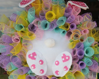 Here Comes Peter Cottontail!-- Easter Wreath