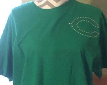 YOUTH!!!!!!Rhinestone Cuero c  spirit shirt