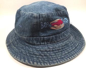 Denim Bru-Thru Bucket Hat Size Small 90s
