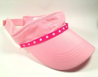 Pink and Polka Dot Visor