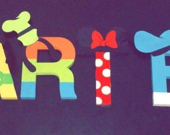 Disney Wood letters