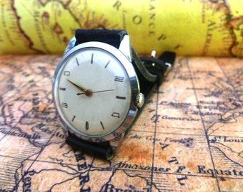 Rare USSR men's watch Wostok - МИР-MIR-(peace) 1960's, Mens Watch, Leather Watch, Vintage Mechanical Watch, Soviet Watch, Wrist Watch