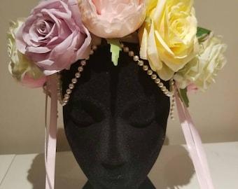 Festival headpiece / wedding headpiece / race wear / headdress / headpeice / festival headdress /  burning man /  flower crown