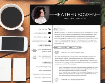 CV Template, Creative resume word,Resume with Photo Full Package, Instant Download Resume Template