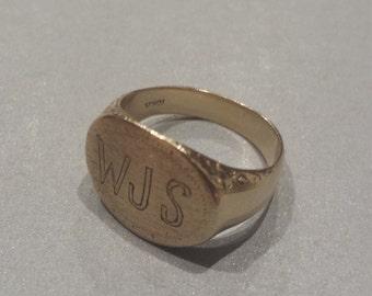 10K Yellow Gold Signet Ring