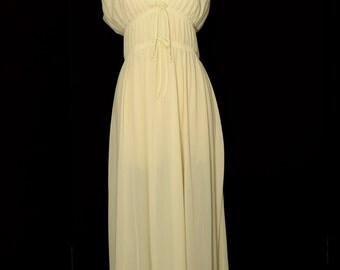 Vintage Nightgown, 1960s Nightgown by Sears, Cream - Ivory Nightie, Extra Large, Size 38 - 40