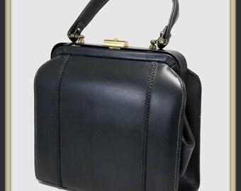 Vintage Leather Handbag, Vintage Handbag, Vintage Leather Purse, Vintage Purse, Vintage Leather Satchel, Vintage Satchel, Vintage Caprice