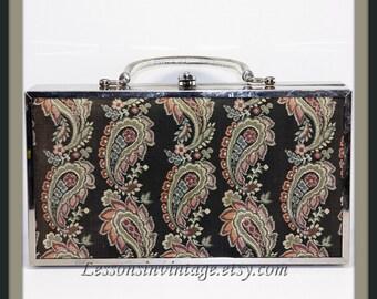 Vintage Box Purse, Vintage Lou Taylor Box Purse, Vintage Handbag, Vintage Lou Taylor Handbag, Vintage Pocketbook, Vintage Purse