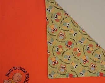 Owl Baby Changing Pad, Owl Baby, Changing Pad, Born To Cause Trouble, Embroidered Changing Pad, Diaper Change, Travel Changing Pad