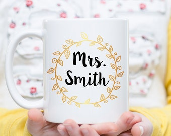 Personalized Coffee Mug, Custom Coffee Mug, Bridesmaid Gift, Teacher Gift, Gift For Her, Wedding Gift, Bridal Mug, Friend Gift, Friend Mug