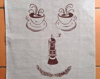 Rise and Grind Tea Towel