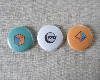tumblr icons 3 pack pinback buttons