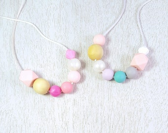 Candy Sprinkles Silicone Teething Necklace