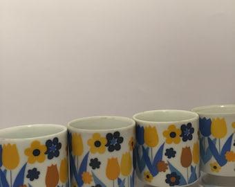 Set of 4 Vintage Mugs