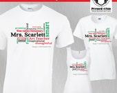 Teacher Shirts: Word Art ...