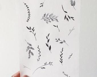 Dancing Botanical Print