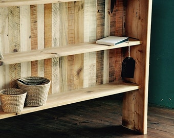 Shelving Unit Reclaimed Wood Shelving Shelves Storage Bookcase Industrial Rustic Shelving Vintage Wood Shelving