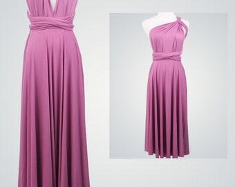 Light Plum Bridesmaid Dress, Infinity Dress,Wrap Convertible Dress,Formal Dress,Long Purple Dress,Party Dress,Evening Dress
