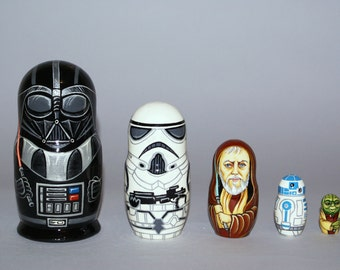 Star Wars Nesting dolls, Matryoshka Doll 5pcs, Darth Vader, Funny Gifts, Kids Room Decor, Kids Gifts