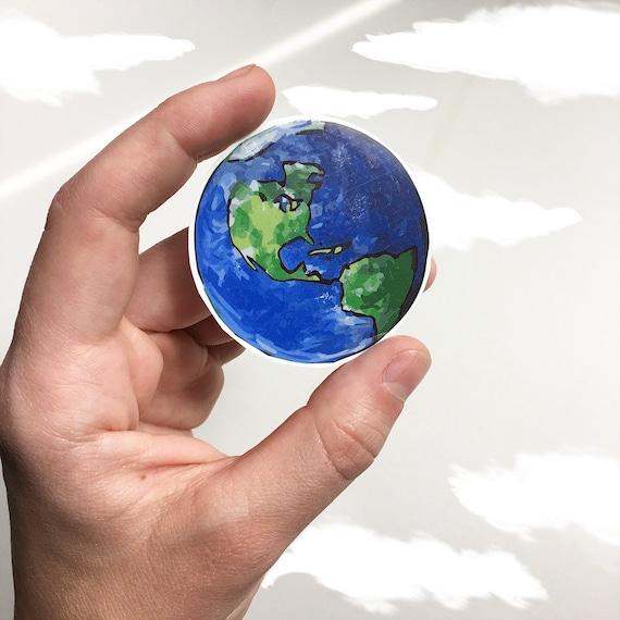 Earth Temporary Tattoo, Planet Earth, Globe, The World Tattoo, Nature Tattoo