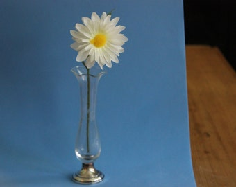 Sterling Silver Based Flower Bud Vase