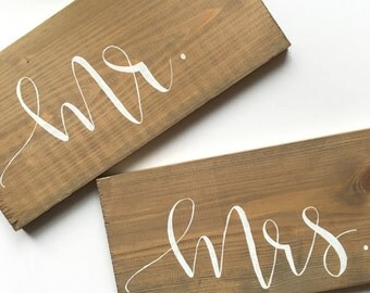 Mr. & Mrs. Woodplank Sign