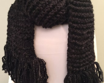 Extra long wool blend scarf
