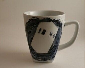 Tardis mug, Dr who mug, Dr who coffee cup, tardis coffee mug