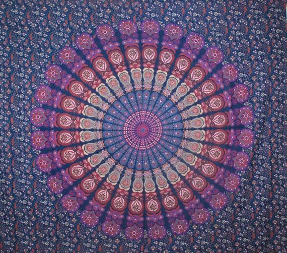 mandala tapisserie mandala mural boho decore par. Black Bedroom Furniture Sets. Home Design Ideas