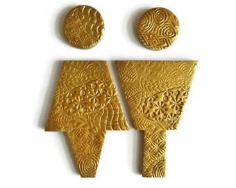 antique gold bathroom male female sign gold bathroom accessories guest bathroom sign washroom