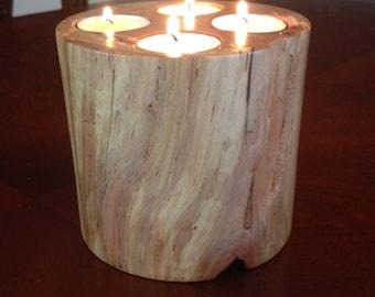 Rustic tea light holder, Wooden Candle Holder, Wood Candle Holder, Wooden Home Decor, Rustic Decor