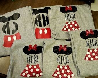 Mickey mouse & Minnie mouse shirts--Inspired by Disney matching shirts-