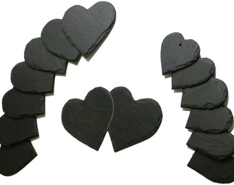 Slate heart place card & gift