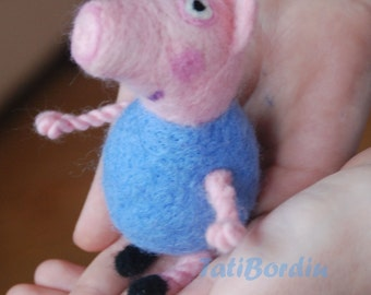 Neddle felted George Peppa's little brother