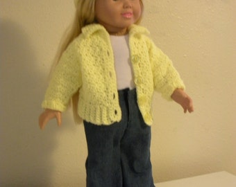 18 inch doll sweater and cap #D0002