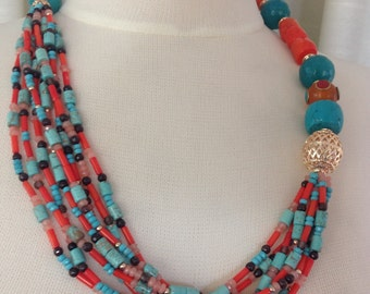 Chunky Semi Precious stone Necklace