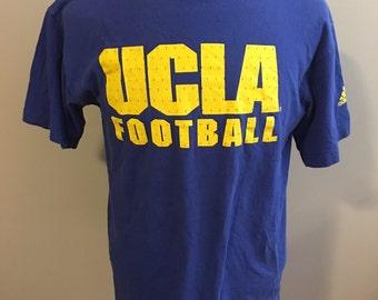 Vintage University of California Los Angeles, UCLA Football T-Shirt, Size: Medium