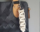 macrame key chain, purse tassel, macrame purse tag, bag chain, bag accessory, keychain, key chain, macrame lanyard, festival accessory, boho
