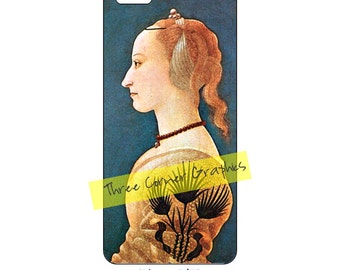 Fine art iPhone 5 printable case design (Renaissance, Portrait of a Lady); DIY print at home iPhone accessories for 5, 5S, or SE