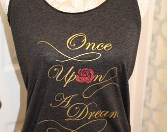 Once Upon A Dream Tank Top With Detachable Pink Bow