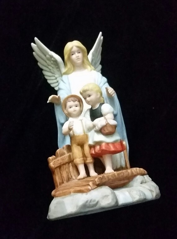 Home Interiors Guardian Angel Figurine From 1995 Great