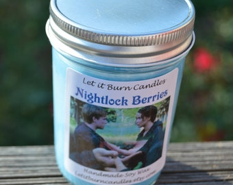 Nightlock Berries The Hunger Games Scented Blueberry Food Scented Soy Wax Candle