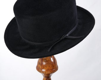 Handmade  Black Mini Fur Felt  Top Hat