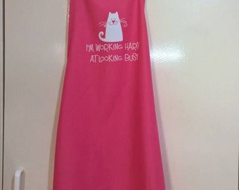 Pink Apron with Saying