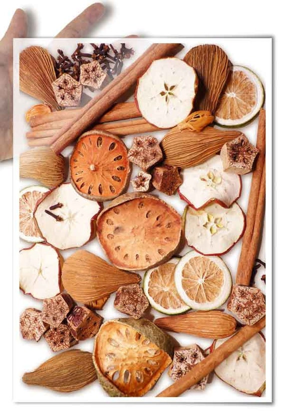 Decoupage Paper • spices dried fruits cinnamon mace cloves • for mod podge decopatch scrapbooking